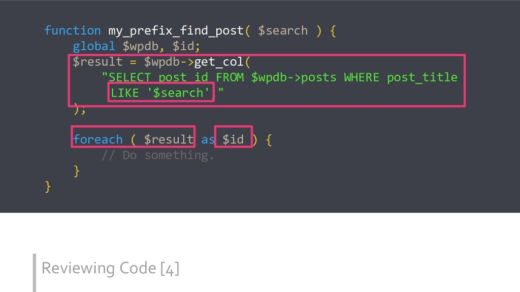 Reviewing Code [4] function my_prefix_find_post...