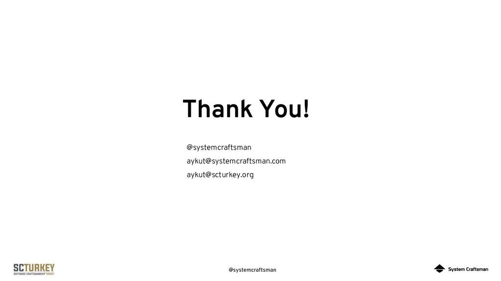 @systemcraftsman Thank You! @systemcraftsman ay...