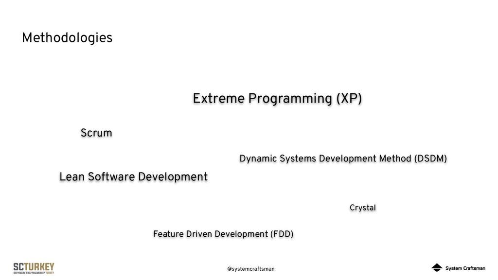 @systemcraftsman Methodologies Scrum Extreme Pr...