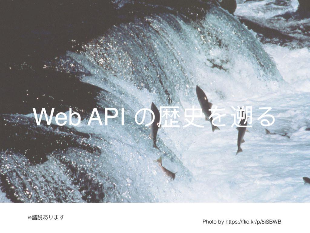 Web API の歴史を遡る ※諸説あります Photo by https://flic.kr/...