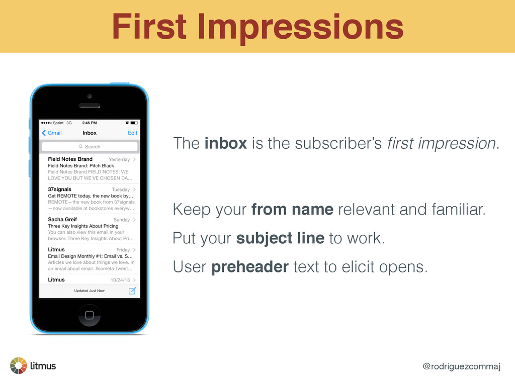 @rodriguezcommaj First Impressions The inbox is...