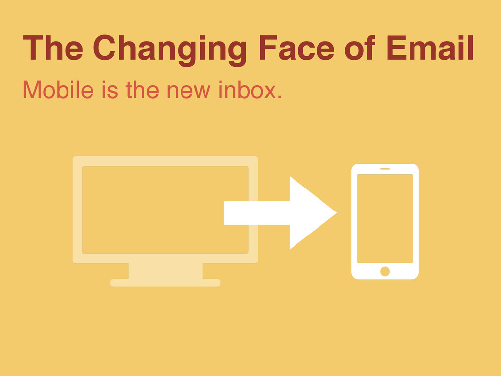 The Changing Face of Email Mobile is the new in...
