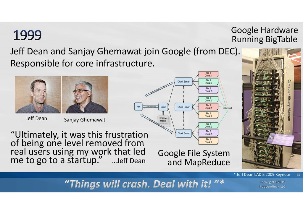 Jeff Dean and Sanjay Ghemawat join Google (from...