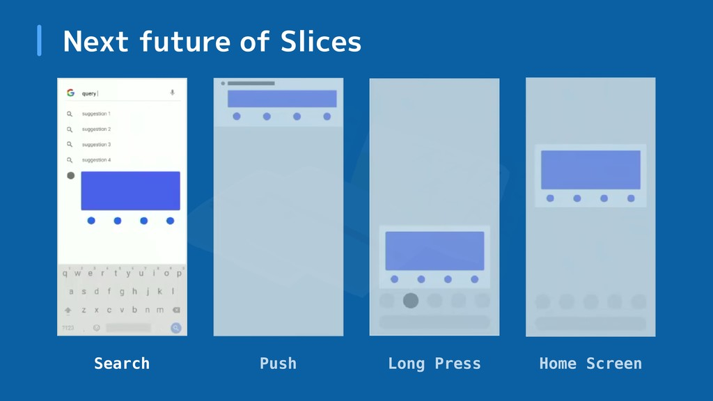 Next future of Slices Search Push Long Press Ho...