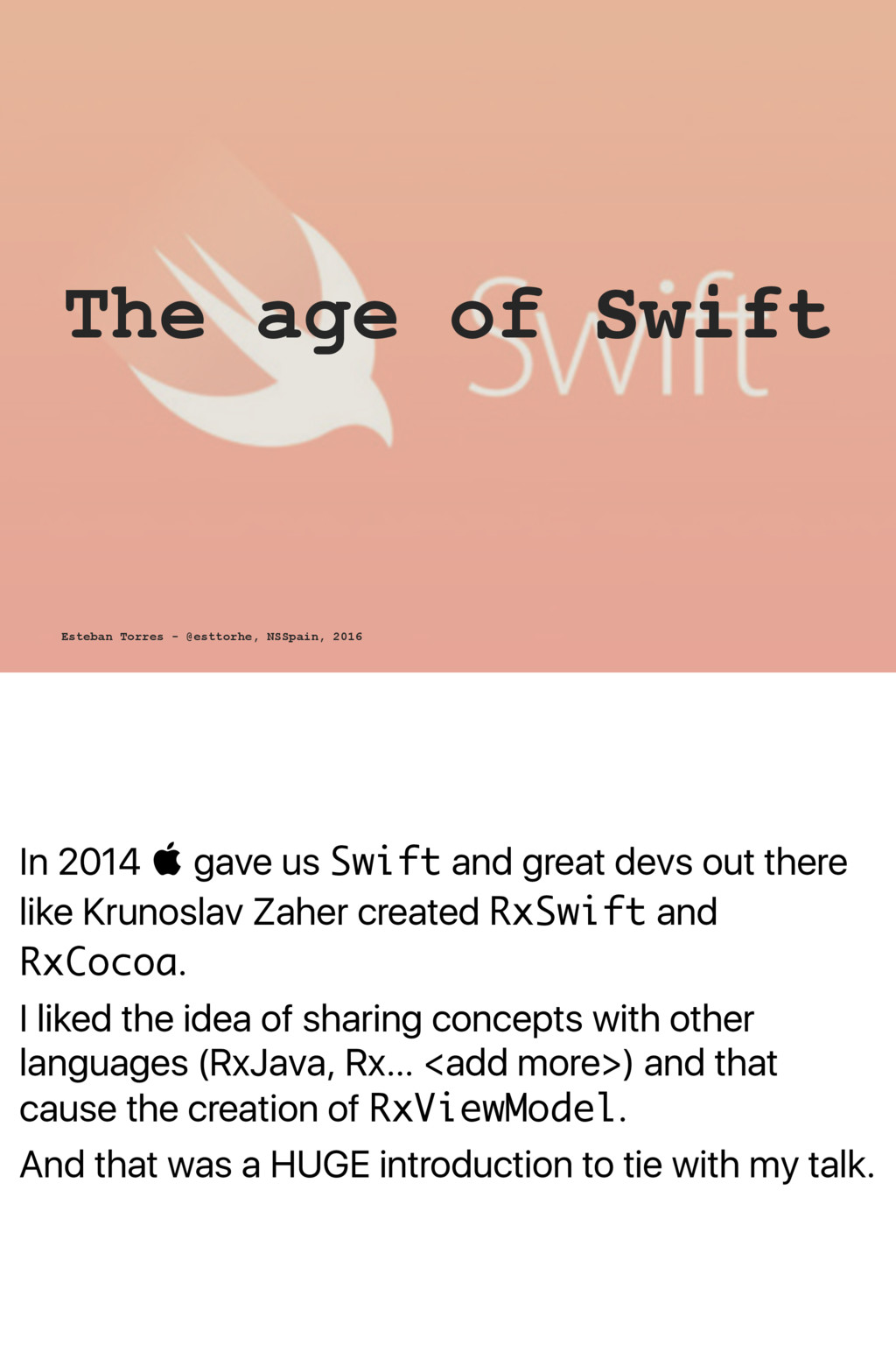 In 2014  gave us Swift and great devs out ther...