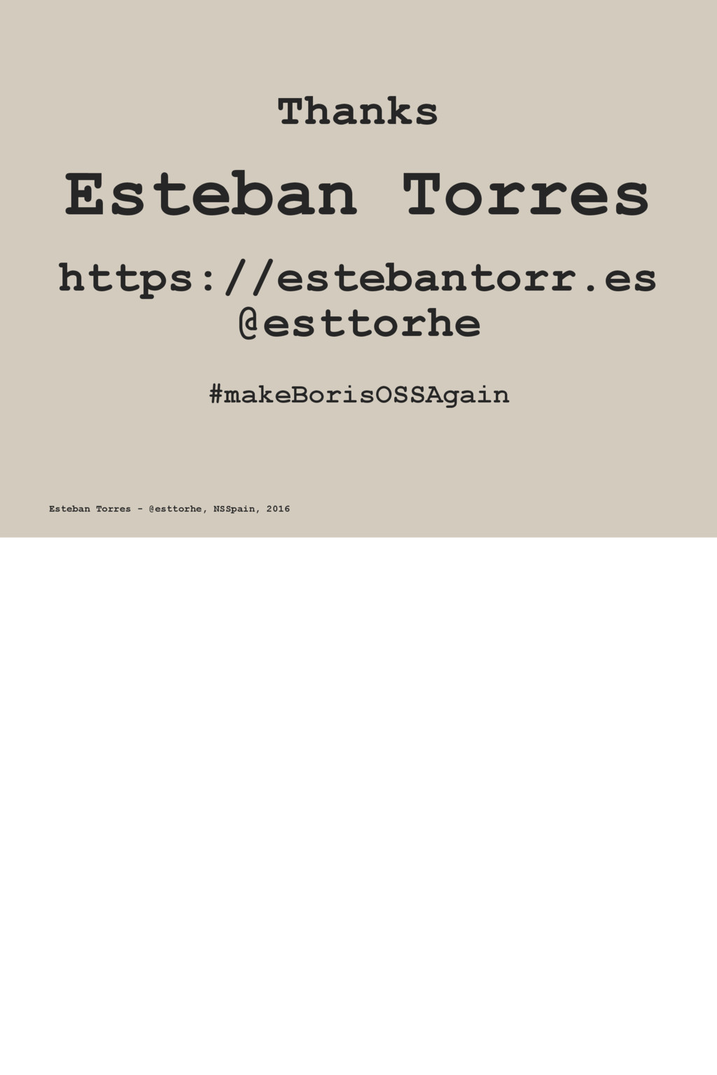 Thanks Esteban Torres https://estebantorr.es @e...