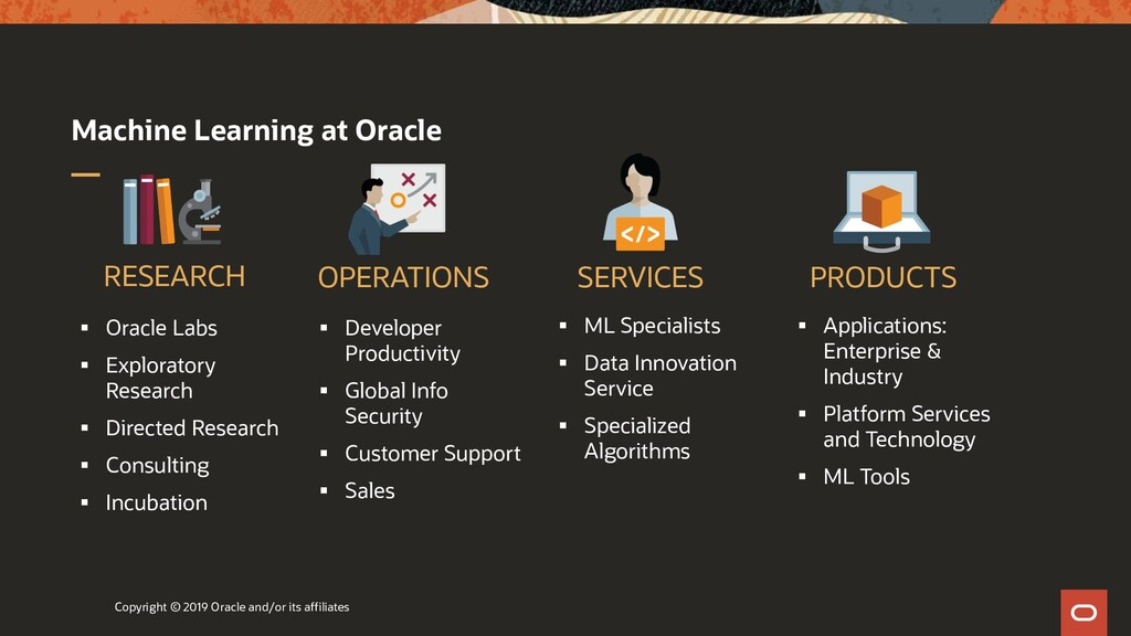 Machine Learning at Oracle ▪ Oracle Labs ▪ Expl...
