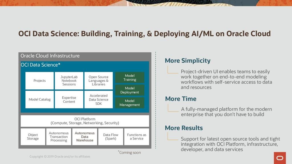 OCI Data Science: Building, Training, & Deployi...