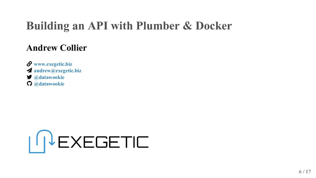 Building an API with Plumber & Docker Andrew Co...