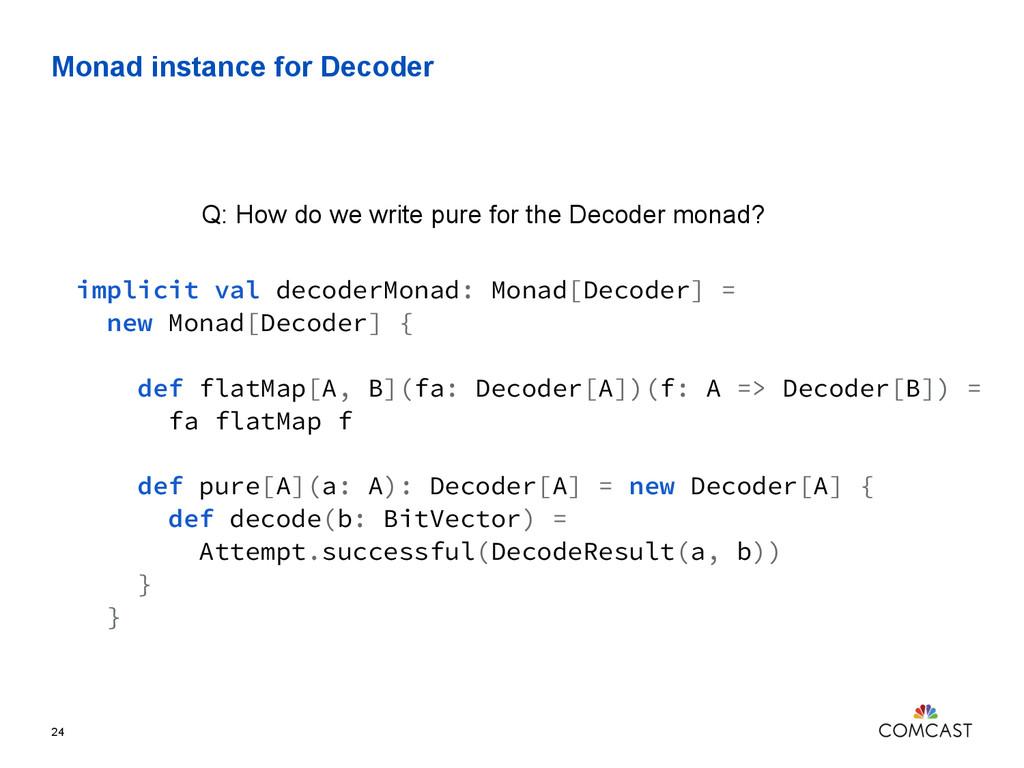 Monad instance for Decoder 24 implicit val deco...