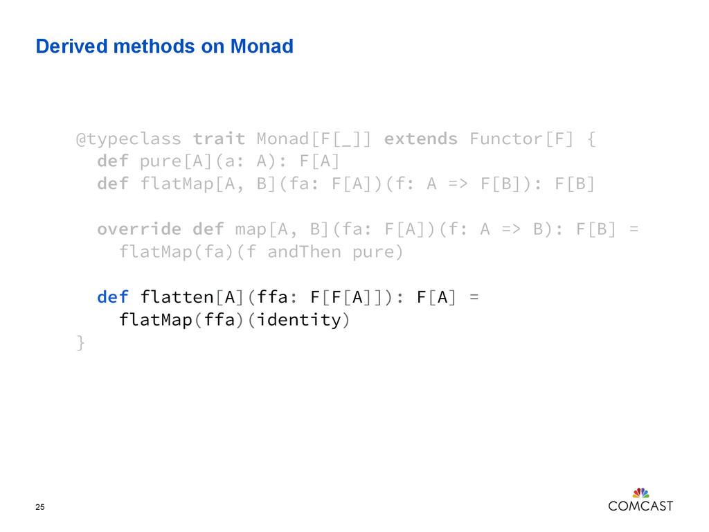 Derived methods on Monad 25 @typeclass trait Mo...