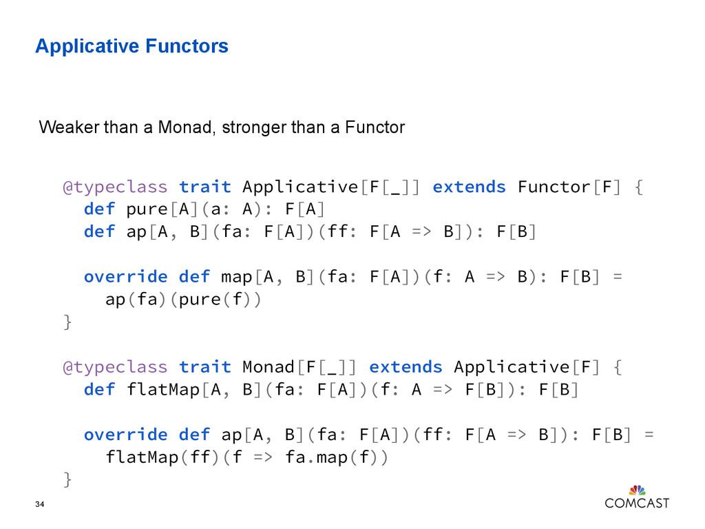 Applicative Functors 34 @typeclass trait Applic...