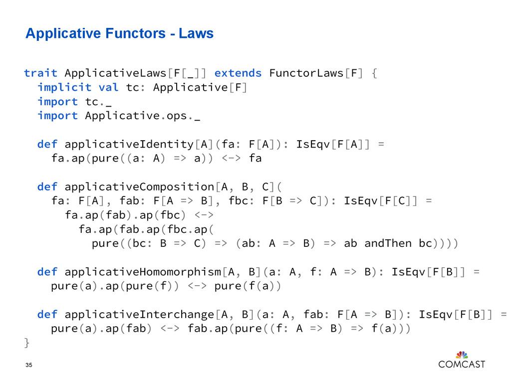 Applicative Functors - Laws 35 trait Applicativ...