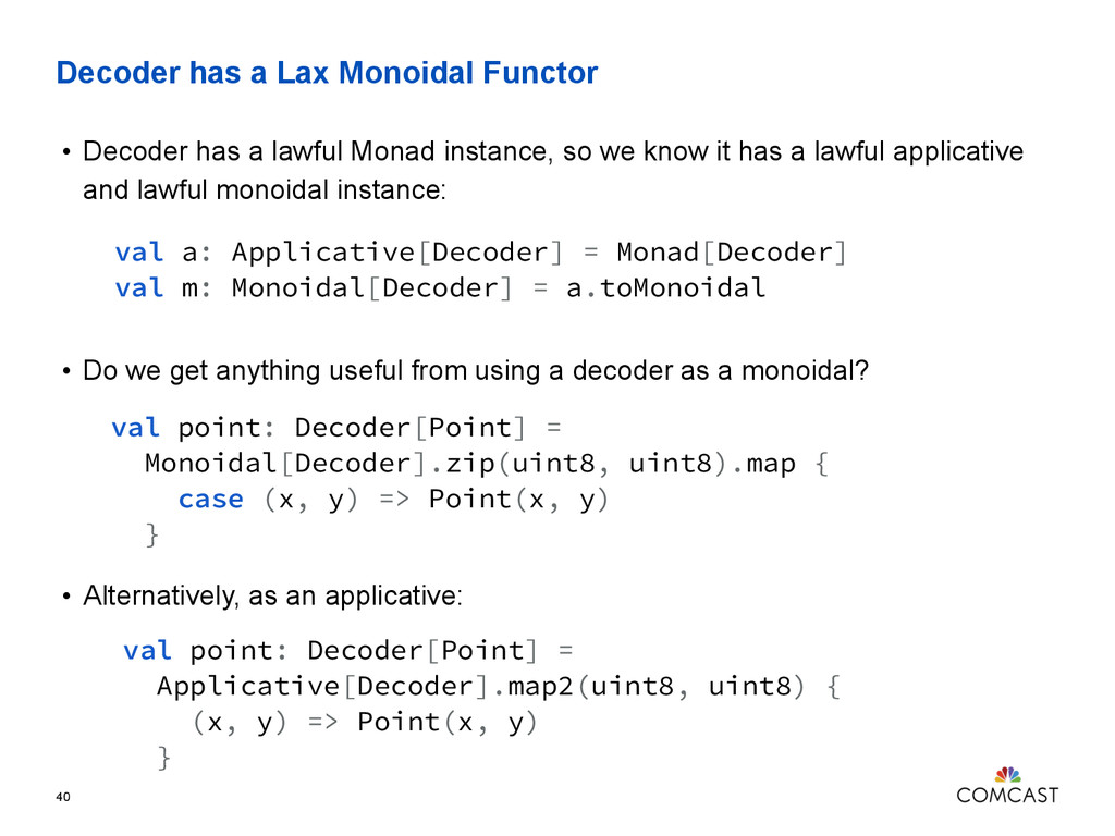Decoder has a Lax Monoidal Functor 40 • Decoder...