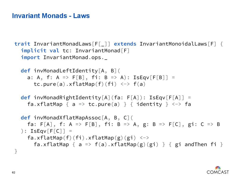 Invariant Monads - Laws 62 trait InvariantMonad...