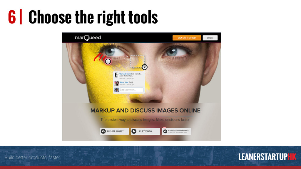 6 | Choose the right tools