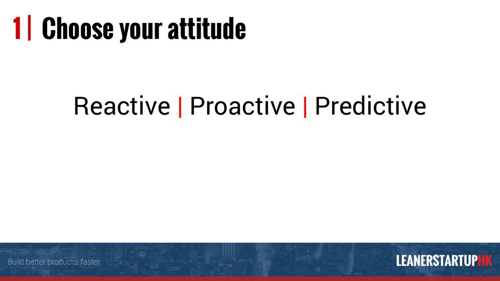 Reactive | Proactive | Predictive 1 | Choose yo...