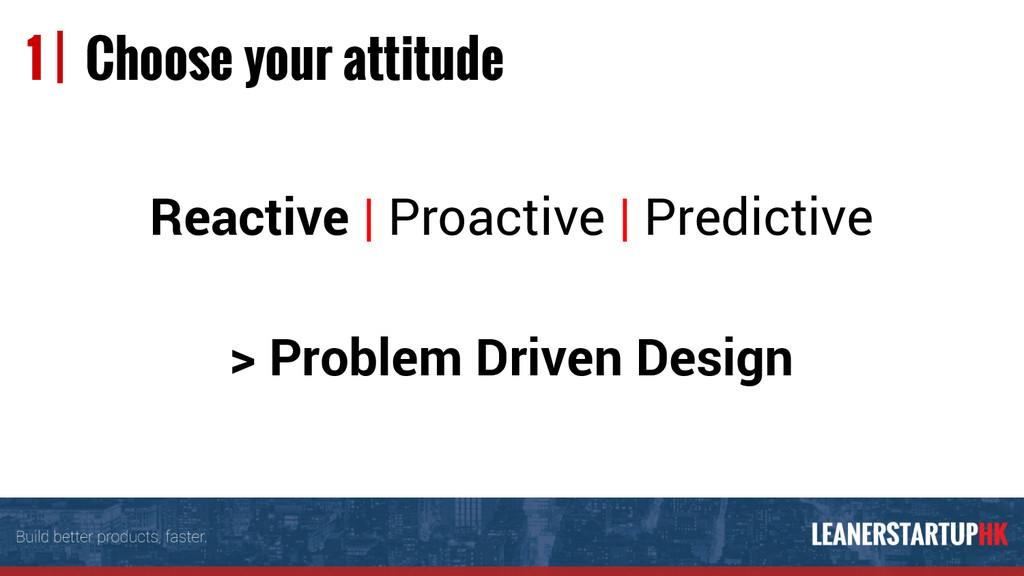 Reactive | Proactive | Predictive > Problem Dri...