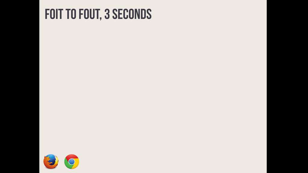FOIT to FOUT, 3 seconds