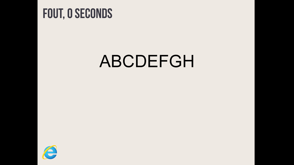 FOUT, 0 seconds ABCDEFGH