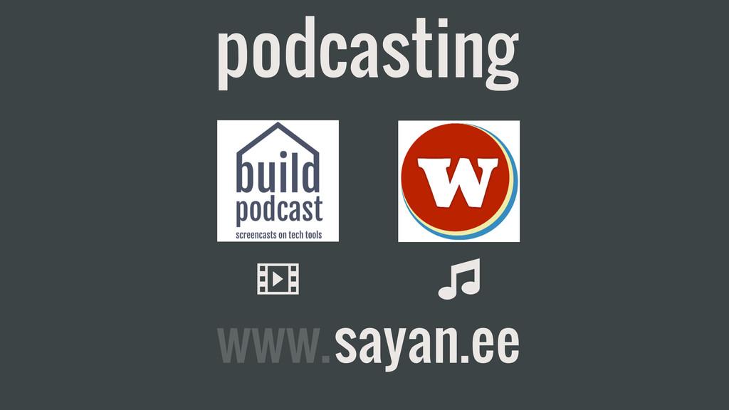 podcasting v m sayan.ee www.
