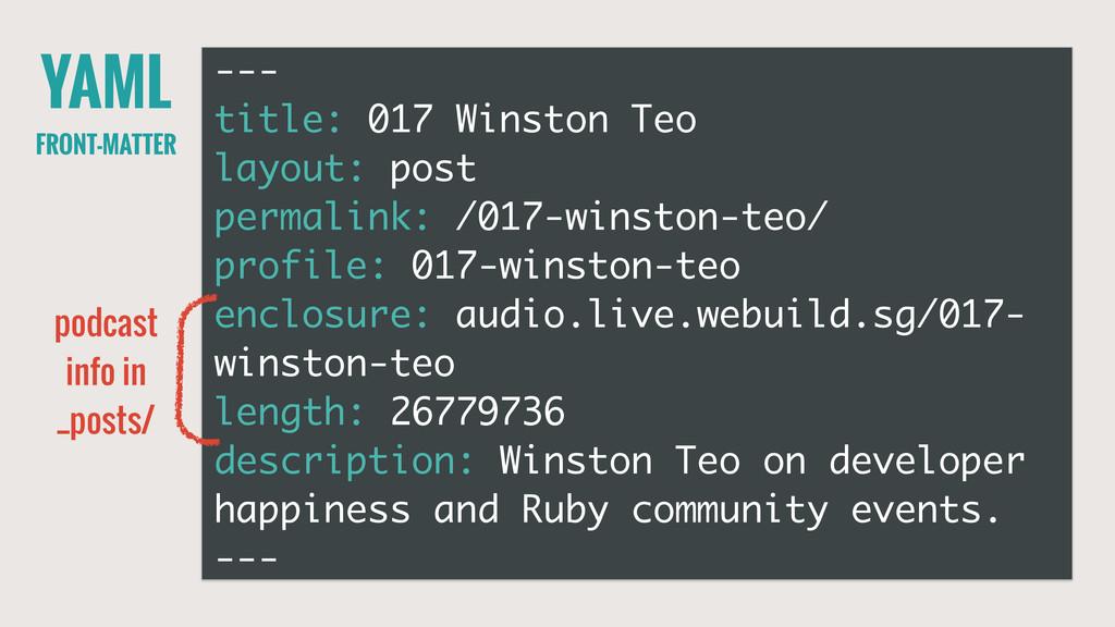 YAML FRONT-MATTER --- title: 017 Winston Teo la...