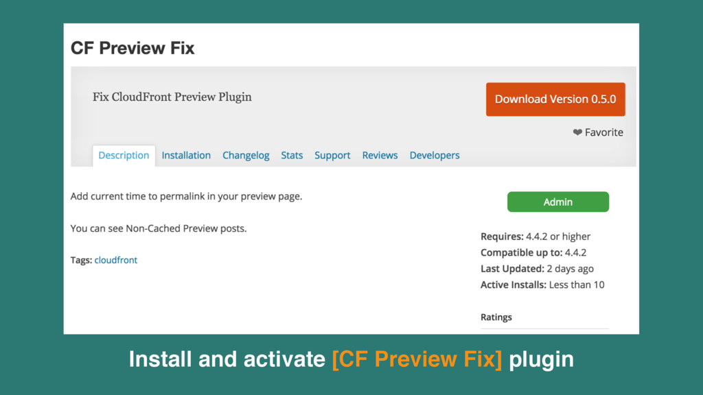 Install and activate [CF Preview Fix] plugin
