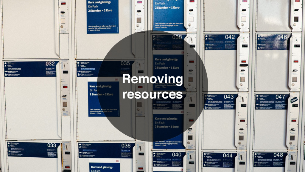 Removing resources