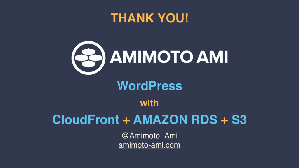 @Amimoto_Ami amimoto-ami.com THANK YOU! WordPre...