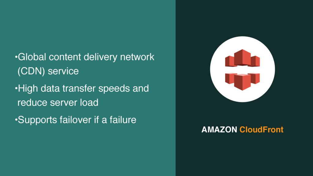 AMAZON CloudFront •Global content delivery netw...