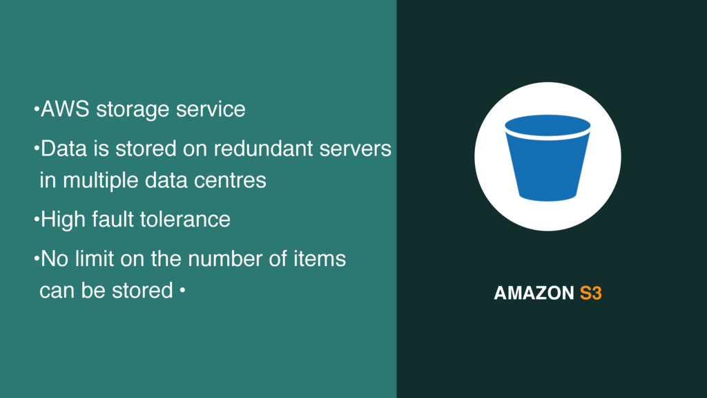 AMAZON S3 •AWS storage service •Data is stored ...