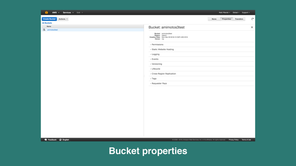 Bucket properties