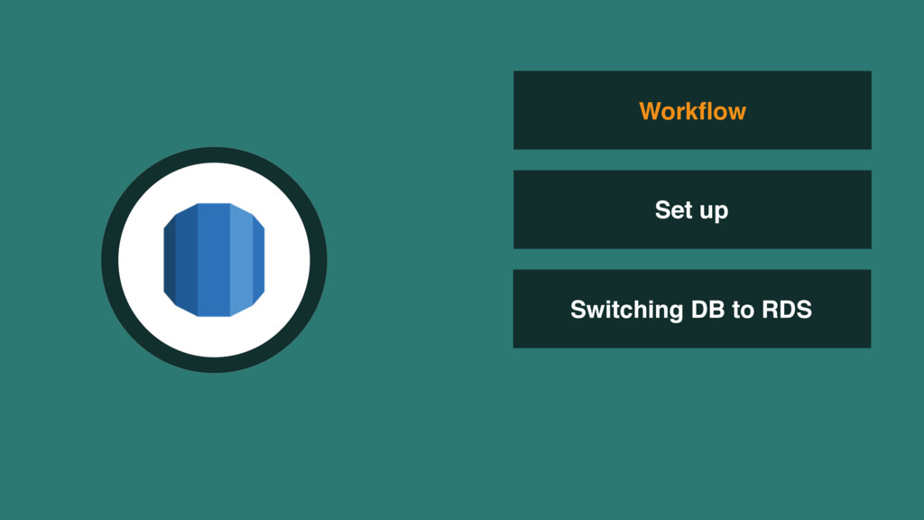 Switching DB to RDS Workflow Set up
