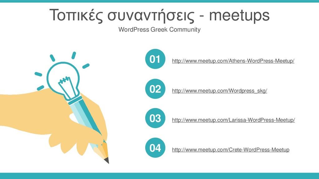 Τοπικές συναντήσεις - meetups WordPress Greek C...