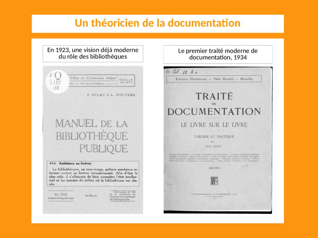Le premier traité moderne de documentation, 193...