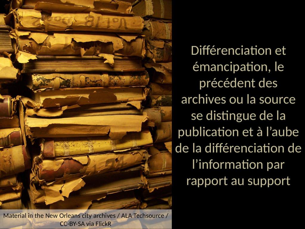 Différenciation et émancipation, le précédent d...