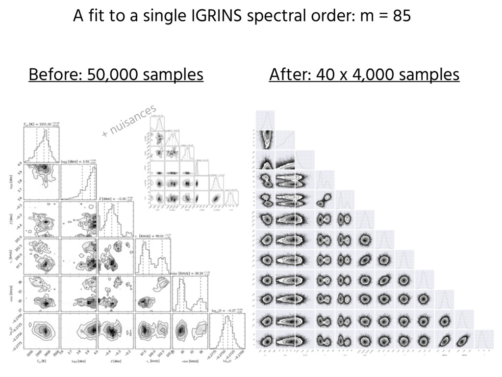 A fit to a single IGRINS spectral order: m = 85...