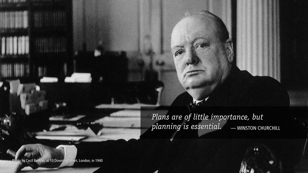 Plans are of little importance, but planning is...
