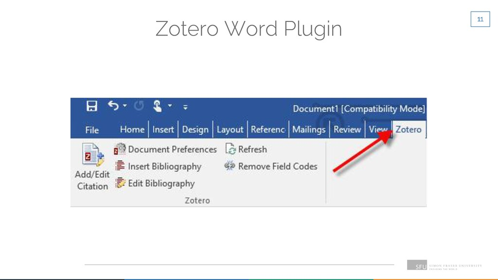 11 Zotero Word Plugin