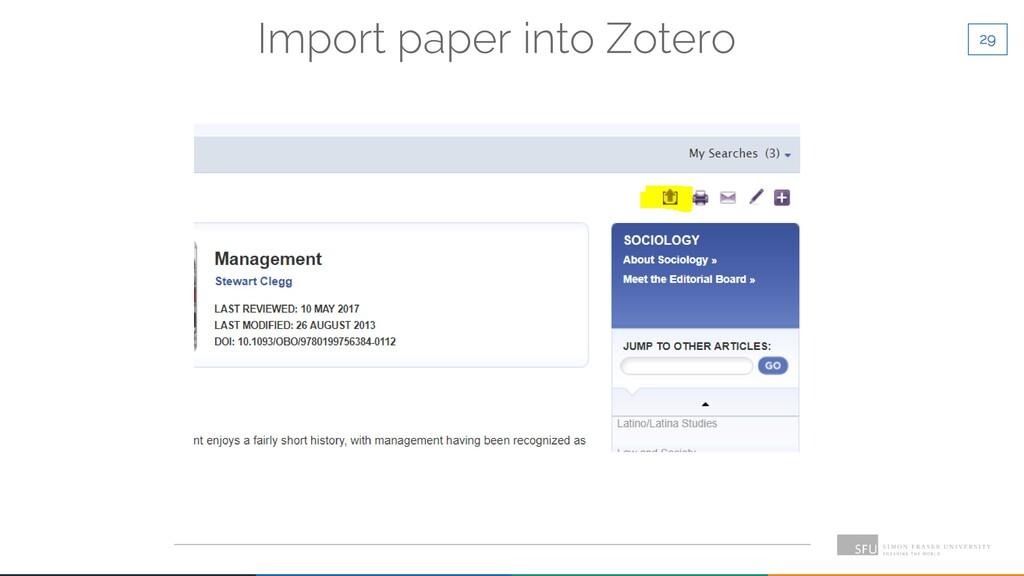 29 Import paper into Zotero