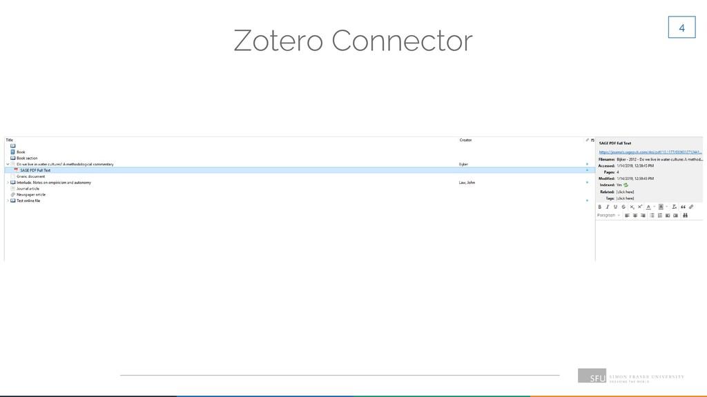 4 Zotero Connector