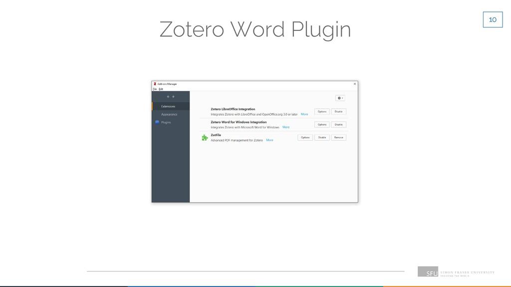 10 Zotero Word Plugin