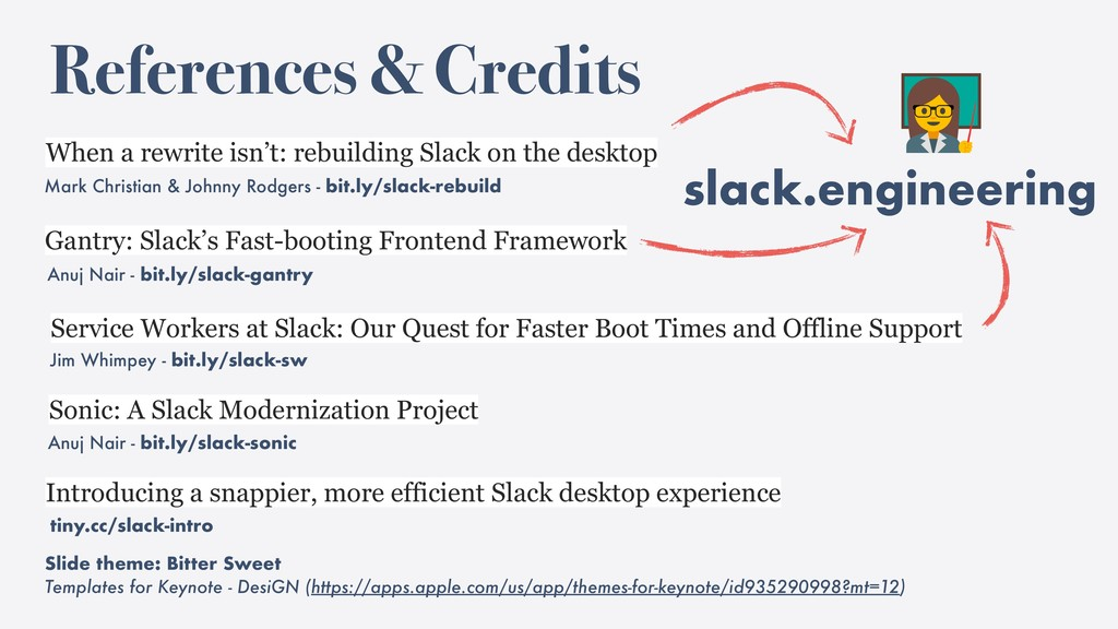 slack.engineering References & Credits Mark Chr...