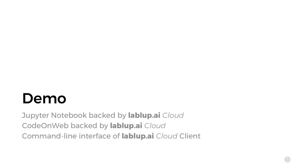 Demo Jupyter Notebook backed by lablup.ai Cloud...