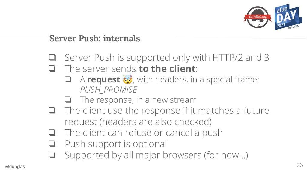 @dunglas Server Push: internals ❏ Server Push i...