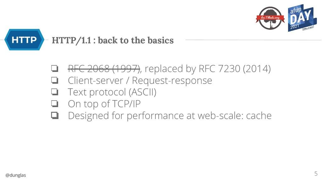 @dunglas HTTP/1.1 : back to the basics ❏ RFC 20...
