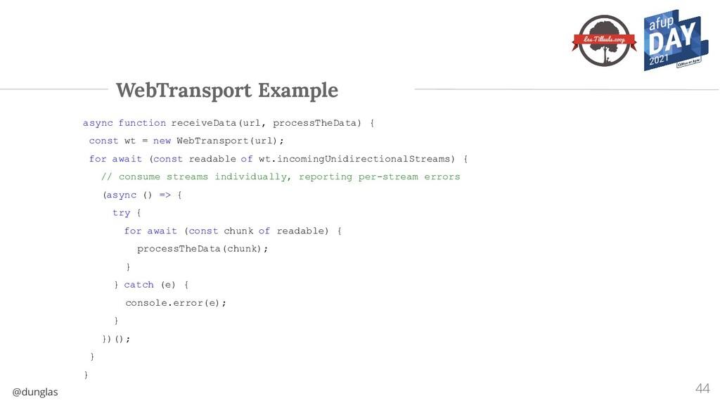 @dunglas WebTransport Example async function re...