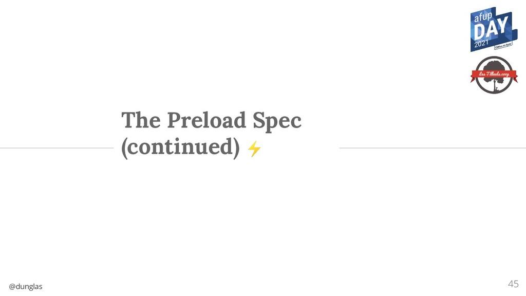 @dunglas The Preload Spec (continued) ⚡ 45