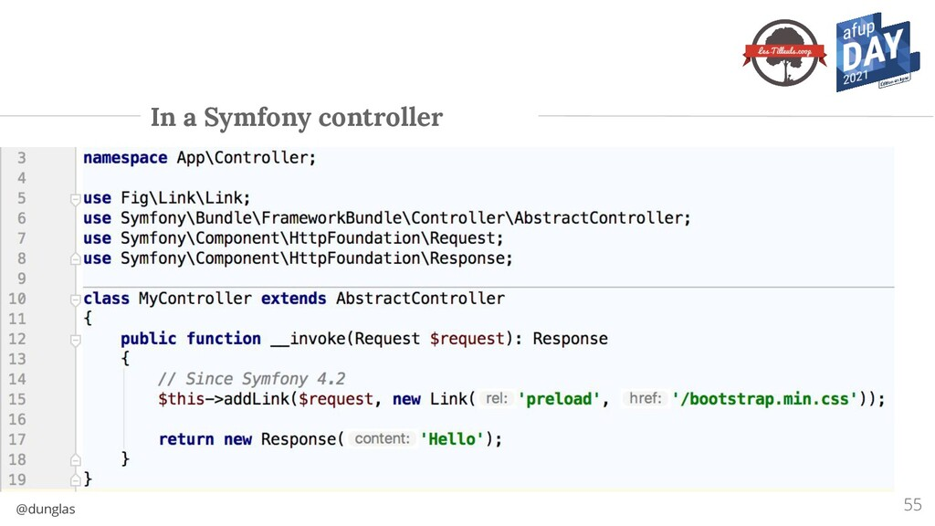 @dunglas In a Symfony controller 55