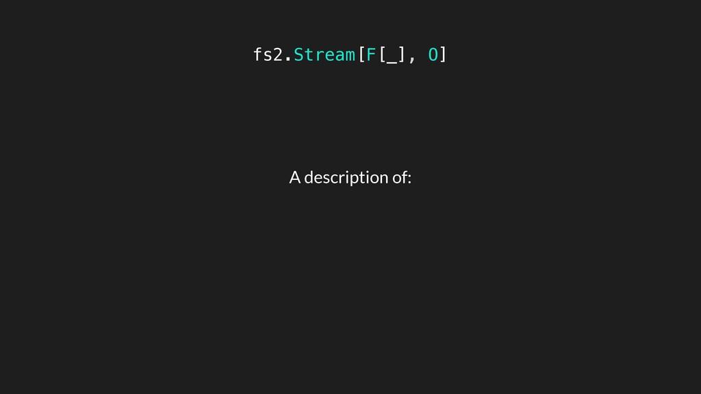 fs2.Stream[F[_], O] A description of: A sequenc...
